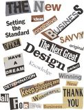 Business Thinking Word Collage Royalty Free Stock Images