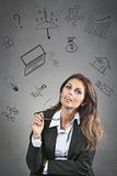 Business thoughts Royalty Free Stock Photo