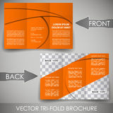 Business three fold flyer template, cover design or corporate brochure Royalty Free Stock Photography