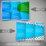 Business three fold flyer template, cover design or corporate brochure Royalty Free Stock Photo
