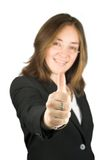 Business thumb up - focus on hand Royalty Free Stock Photo