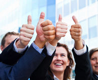 Business thumb up Royalty Free Stock Photo