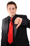 Business thumbs down Stock Image