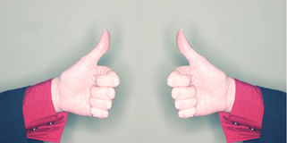 Business thumbs up stock image