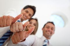 Business thumbs ups Royalty Free Stock Photos
