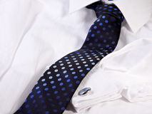 Business Tie and cuff-link Royalty Free Stock Photos
