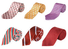 Business ties rolled up Stock Photos
