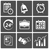Business Time icons. Vector Business Time and scheduling icons Stock Photography