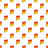 Business time pattern, cartoon style. Business time pattern. Cartoon illustration of business time vector pattern for web Stock Image