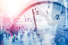 Business time and working hours for financial stock photography