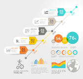 Business timeline elements template. Vector illustrations. Can b Royalty Free Stock Image