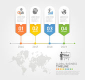 Business timeline elements template. Royalty Free Stock Images