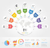 Business timeline elements template. Vector illustrations. Can be used for workflow layout, banner, diagram, number options, web design, infographic template stock illustration