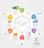 Business timeline elements template. Vector illustrations. Can be used for workflow layout, banner, diagram, number options, web design, infographic template royalty free illustration