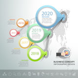 Business timeline infographic template. Can be used for workflow layout, diagram, number options vector illustration
