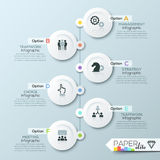 Business timeline infographic template Royalty Free Stock Images