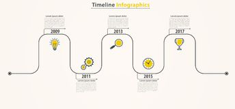 Business timeline infographics. Working process with periods of Stock Photography