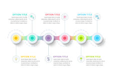 Business timeline in step circles infographics. Corporate. Business process timeline infographics in step circles. Milestones chart graphic elements. Company Stock Photos