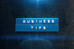 Business tips Stock Photos