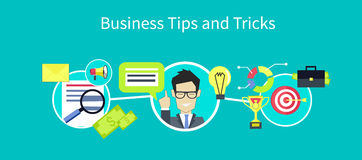 Business Tips and Tricks Design Stock Photo