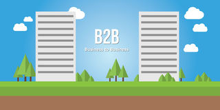 Business to busines b2b concept corporate building Stock Photo