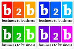 Business to business. Colorful icons for b2b (Business to Business) companies Vector Illustration