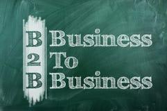 Business To Business. B2B -  Business To Business acronym  on green chalkboard Stock Photography