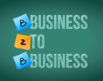 Business to business. Bordo di B2B Immagine Stock Libera da Diritti