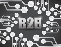 Business to business circuit boards illustration Stock Photos