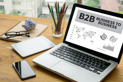Business to business di B2B Immagini Stock