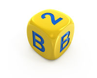 Business to Business dice royalty free stock image