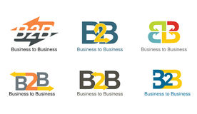 Business to Business iscons Stock Photos