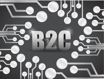 Business to consumer circuit boards illustration Stock Photo