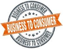 Business to consumer stamp. Business to consumer round grunge ribbon stamp isolated on white background stock illustration