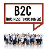Business To Customer Consumer Commerce Contact Concept Stock Photo