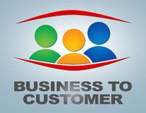 Business to Customer Stock Photo