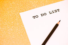 Business to do list Stock Photo
