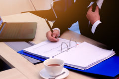 Business to working in office. the concept for successful work to goal of organization. Royalty Free Stock Photo