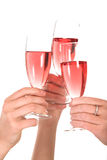 Business toast. Three woman toasting over a glass of bubbly Royalty Free Stock Images