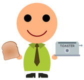 Business toaster Royalty Free Stock Images