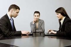 Business together stock photos