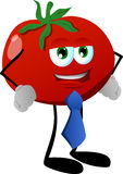 Business tomato wearing tie Stock Photo