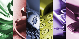 Business tools - collage royalty free stock photo