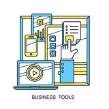Business tools concept Stock Image