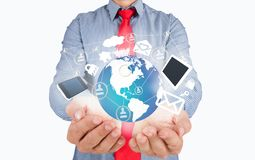Business tools in the hands. Of Stock Photo