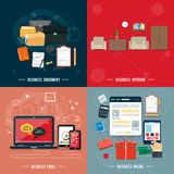 Business tools, interior, online, documents Royalty Free Stock Images