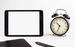 Business tools. tablet Watches Stock Image