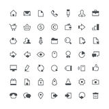 Business total icon set Stock Images