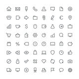 Business total outline icon set 64 Stock Photography