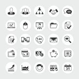 Business total vector icon set Royalty Free Stock Images